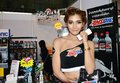 Option thailand fest bangkok thailand august unidentified model presented lubricant oil at thunder dome muengthong thanee Stock Photo