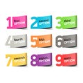 Options numbers infographics element illustration Stock Photography