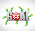 Options to your goal illustration design over a white background Royalty Free Stock Image