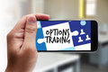 OPTIONS TRADING investment in option trade of trader Business co Royalty Free Stock Photo