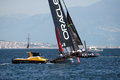 Oracle usa team in action during the america s cup world series in naples in italy Royalty Free Stock Photos