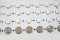Oral contraceptive pill close up Stock Photos