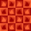 Orange abstract background, checker patterns with blending triangle texture Royalty Free Stock Photo