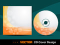 Orange abstract CD cover. Royalty Free Stock Photography