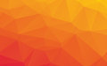 Orange Abstract Low Poly Vector Background