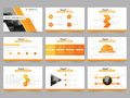 Orange Abstract presentation templates, Infographic elements template flat design set for annual report brochure flyer leaflet