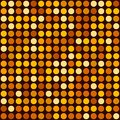 Orange Abstract Seamless Background with Dotted Spot. Vector Royalty Free Stock Photo