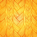 Orange abstract seamless hair pattern Stock Images