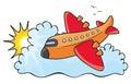 Orange aeroplane
