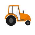 Orange agrimotor . Farm machines. Tractor for agriculture Royalty Free Stock Photo