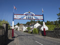 Orange arch louhall north ireland an in the village of loughall Royalty Free Stock Images