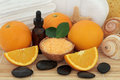 Orange Aromatherapy Spa Royalty Free Stock Photo