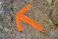 Orange arrow Royalty Free Stock Images