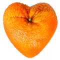Orange as a heart Royalty Free Stock Photo