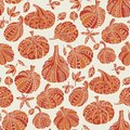 Orange autumn decorative pumpkin seamless pattern
