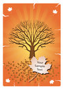 Orange Autumn Tree Design Stock Photos