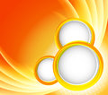 Orange background with circles abstract illustration Stock Photography