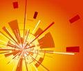 Orange background with explosion Royalty Free Stock Photo