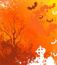 Orange background on halloween Stock Images