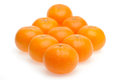 Orange background line up in rhombus shape on white Royalty Free Stock Image