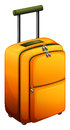 An orange baggage illustration of on a white background Stock Images