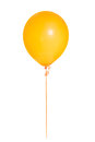 Orange Balloon Isolated Royalty Free Stock Photo