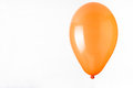Orange balloon on white background Royalty Free Stock Photo
