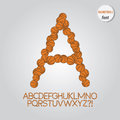 Orange basketball alphabet vector set of Stock Photo