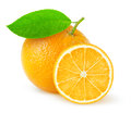 Orange beautiful oranges over white background Stock Image
