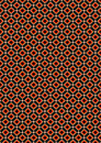 Orange and beige rhombuses on black background mosaic of rhombus a Royalty Free Stock Photo
