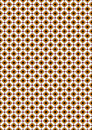 Orange and beige rhombuses on white background mosaic of rhombus with purple squares Stock Images