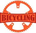 Bicycling Badge Royalty Free Stock Photo