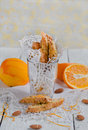 Orange biscotti Royaltyfria Bilder