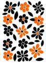 Orange and black flowers background Royalty Free Stock Photo