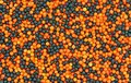 Orange and Black Tiny Sprinkles Stock Images