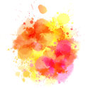Orange blot multicolored watercolor splash for your design Stock Photos