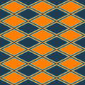 Orange and blue abstract pattern with rhombus