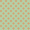 Orange - blue fabric seamless pattern Stock Photo