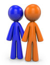 Orange and Blue Man Royalty Free Stock Photo