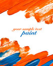 Orange and blue paint strokes Royalty Free Stock Images