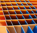Orange and blue squares Stock Image