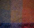 Orange Blue Yellow Purple Woven Irish Blanket Royalty Free Stock Photo