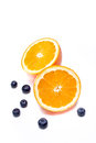 Orange and blueberry Stock Photos
