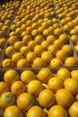 Orange boxes Stock Images