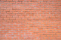 Orange brick wall background texture pattern for continuous replicate Royalty Free Stock Images