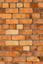 Orange brick wall picture of Royalty Free Stock Photography