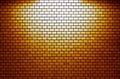 Orange Brick wall with spotlight Royalty Free Stock Photo