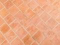 Orange bricks pavers pattern Royalty Free Stock Photo
