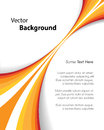 Orange Brochure Background Royalty Free Stock Photography