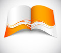 Orange brochure with wavy design Stock Photo